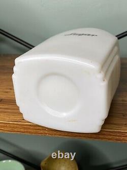Mckee White Milk Glass Roman Arch Sugar Canister Jar