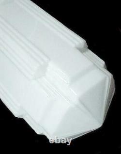 Milk Glass Art Deco Skyscraper Light Shade 6 X 16 1/2 Pendant Ceiling Fan
