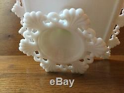 Milk Glass Cake Stand, Westmoreland Ring and Petal Cake Plate Wedding Decor
