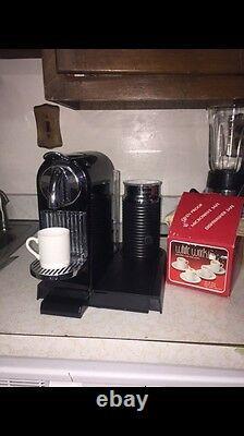 Nespresso (Nestle) CITIZ & MILK LIMOUSINE BLACK 4 Cups Coffee Maker Black