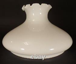 New 10 Opal White Milk Glass Tam-O-Shanter Lamp Shade, Crimped Top, USA, #SH101