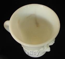 Nine Cambridge Glass Swan Milk Glass Punch Cups
