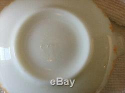 ORANGE Pyrex Vintage Mixing Bowl Cinderella 4 qt Amish Butterprint 444