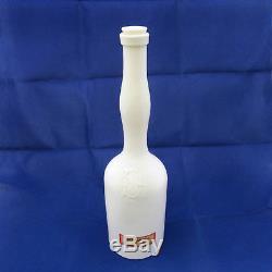 PHD & Co. Sazerac Aromatic Bitters MILK GLASS Lady's Leg 12 Medicine Bottle c. 1