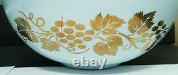 PYREX Vintage GOLDEN GRAPES Chip Dip Set Including Bracket EXCELLENT CONDITION