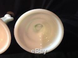 Pair Ripley patented white milk glass crucifix pattern glass candle sticks rare