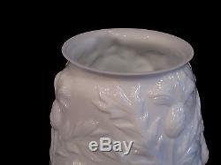 Phoenix Milk Glass Thistle Pattern Umbrella Vase, 18 tall