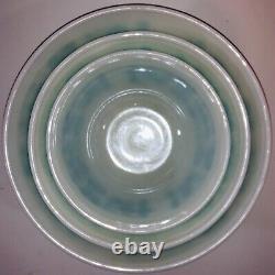 Pyrex Amish Butterprint 3 Pieces 402 403 404 Nesting Mixing Bowls EUC