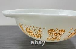 Pyrex Glass Orange Amish Butterprint 444 Cinderella Mixing Bowl