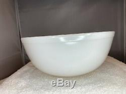 Pyrex True Opal White Mixing Nesting Bowls 401 402 403 404 UNMARKED