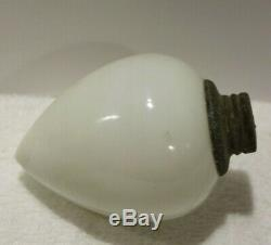 RARE Antique Milk Glass Teardrop Pendant Weathervane Or Lightning Rod Ball