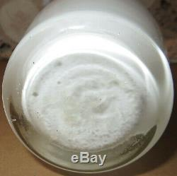 RARE Fenton Flame Crest Vase 1963 Milk Glass Colonial Orange Red Ruffled Edge