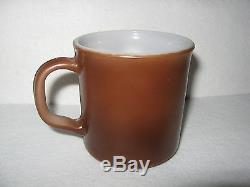 RARE vintage MICKEY MOUSE anchor hocking brown MILK GLASS mug