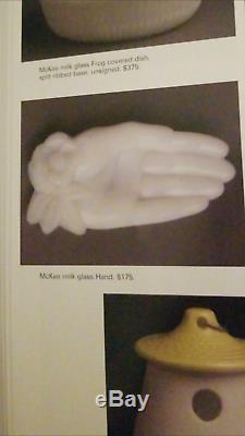 Rare Vintage McKee milkglass single hands