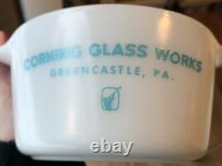 Rare Vintage Pyrex Corning Glass Works Greencastle PA 473 Casserole Dish with Lid