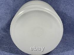 Rare Vintage Sellers / Hoosier Glass Canister / Jar with Lid Milk White & Ribbed