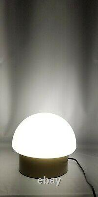 Rare Vintage Thick, Heavy, White Milk Glass Mushroom Table Lamp/Wall Mountable