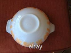 Rare Vtg Pyrex Orange Pumpkin Amish Butterprint Cinderella Bowl #444