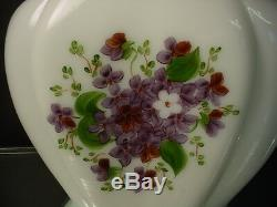 Scarce Phoenix Consolidated Glass 1326 Violet Milk Glass Pillow Vase Regent Line