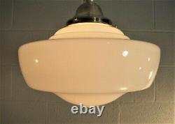School House Chandelier Pendant Antique Globe (2 Available) Matching 12 in Diam