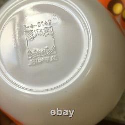 Schott Mainz Jenaer Jena Milk Glass Mixing Bowls Carina Owl Eyes Mid-Century Vtg