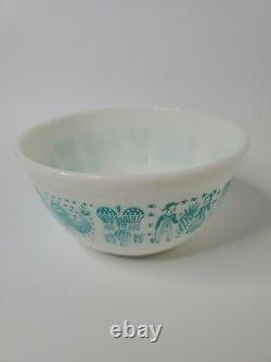 Set of 3 Pyrex Amish Butterprint Turquoise Nesting Mixing Bowls403,402,401