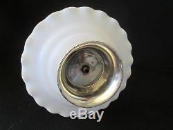 Three Tier Hazel Atlas WHITE CRINOLINE Ruffled Pattern Milk Glass Tidbit Server