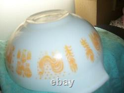 VINTAGE Pyrex Glass Orange Amish Butterprint 444 Cinderella Mixing Bowl RARE