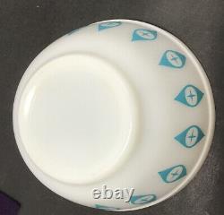 VTG 1950s Pyrex ATOMIC EYES Dip/mixing Bowl Turquoise 5 1/2 RARE Promo Pattern