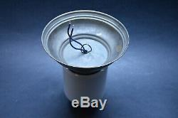 VTG CZECH ART DECO BAUHAUS 1930's Milk Glass Shade LIGHT Fixture