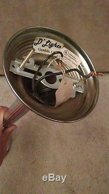 Vintage Art Deco SKYSCRAPER MILK GLASS HANGING LIGHT FIXTURE 37