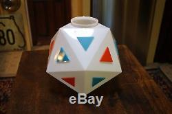Vintage BURGER CHEF Dining Room Milk Glass Globe Shade from STEVENS POINT, WIS