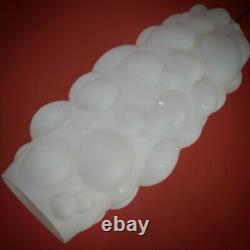 Vintage CZECH white opaline milk glass bubble pendant ceiling light 2 AVAILABLE