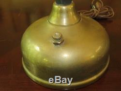 Vintage Electrified Steampunk Brass Tilley Lamp with Heavy Milk Glass Shade