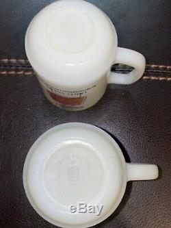 Vintage Fire King Curse You Red Baron Mug Coffee Cup Lot Of 4