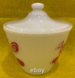 Vintage Fire King Kitchen Aid Grease Jar with Lid in Mint Condition Think Gift