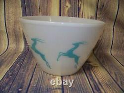 Vintage Fire King Milk Glass Gazelle 9 1/2 Inch Bowl