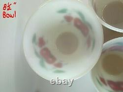 Vintage Fire King Mixing Bowls Apples And Cherries Nesting Bowls Set of 3