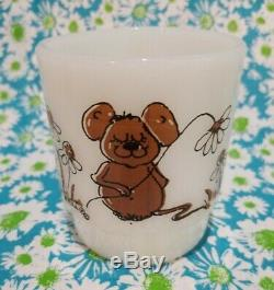Vintage Fireking Fire King Mug Hildi Mouse, Caterpillar, Ladybug & Frog