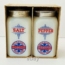 Vintage McKee POMCO Salt and Pepper Shakers in Box Potter McCune Co
