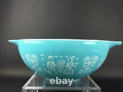 Vintage PYREX Amish Butterprint Cinderella Mixing Bowls Set of 4 Turquoise White