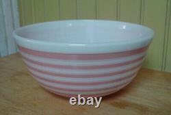 Vintage Pyrex #403 2 1/2 Quart Pink Stripe Nesting Mixing Bowl