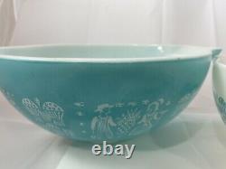 Vintage Pyrex Amish Butterprint Cinderella mixing bowls Set 441, 442, 443, 444