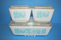 Vintage Pyrex BUTTERPRINT AMISH Cinderella & Refrigerator Dish Sets