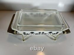 Vintage Pyrex Black Rooster Space Saver Casserole Dish 575 2 Quart 1958 MCM