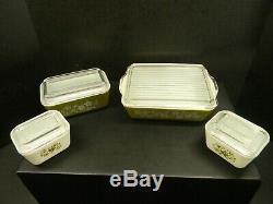 Vintage Pyrex Crazy Daisy Refrigerator & Mixing Bowl Set
