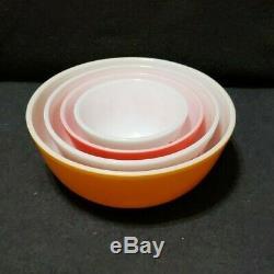Vintage Pyrex Friendship Birds Nesting Mixing Bowls SET OF 4