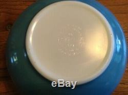 Vintage Pyrex Garland/snowflake Mixing Bowls, Complete Set Of 4 Euc