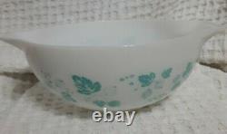 Vintage Pyrex, JAJ Duck Egg Blue Gooseberry Cinderella Mixing Bowl 2nd Largest