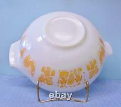 Vintage Pyrex Pumpkin Orange Amish Butterprint #444 Cinderella Bowl 4 QT Mint NU